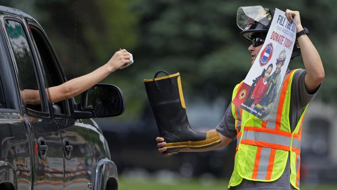 The City of Little Chute Fire Department is showing its support for the Muscular Dystrophy Association as its members kick off the annual Fill the Boot fundraising campaign June 2 at the Little Chute Cheese Fest.