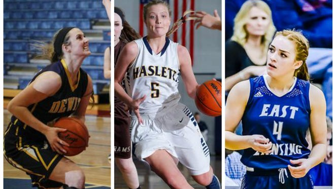 Lilly George and DeWitt, Karson Tripp and Haslett and Taryn McCutcheon and East Lansing will be part of what is a challenging Class A district at Waverly this week.