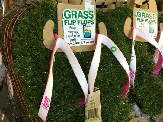 Grass slippers.