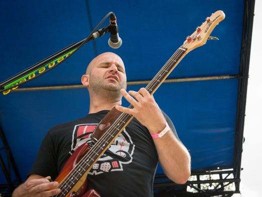 Frank Hammonds of The Upset Victory, kicks off the Bunbury Music Festival at the Amphitheater stage Friday afternoon.