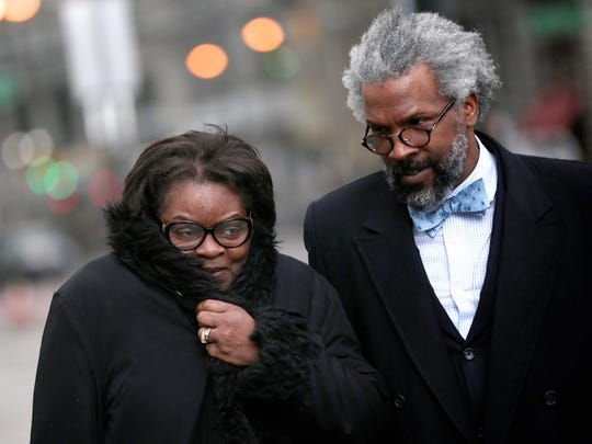 Willye Pearsall, 65, of Warren, and her lawyer Todd