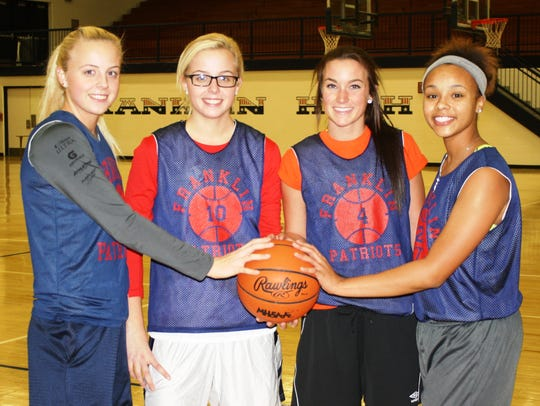 Pictured are Livonia Franklin basketball captains (from