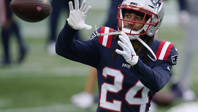Patriots cornerback Stephon Gilmore warms up before the game against the San Francisco 49ers Oct. 25 in Foxboro.