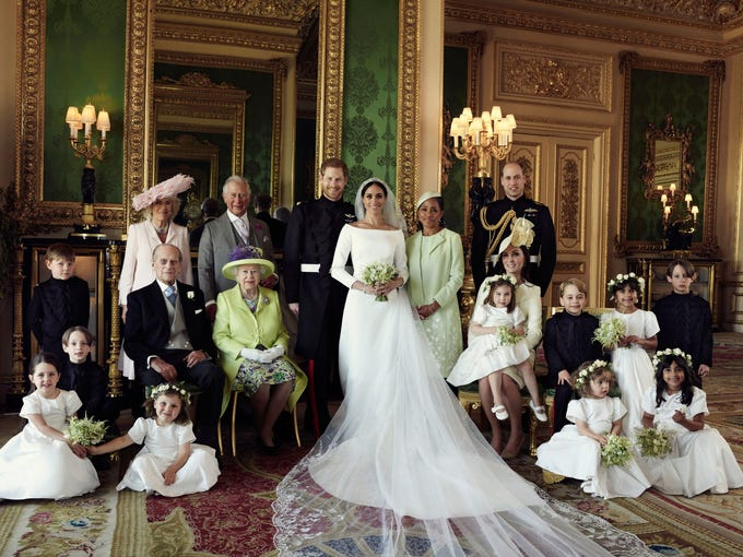 Scenes from Harry and Meghan\'s royal wedding