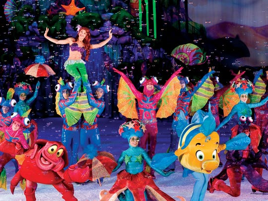 """""""Disney on Ice Presents Dream Big"""" features Disney princesses, Russian acrobats and all kinds of familiar characters."""