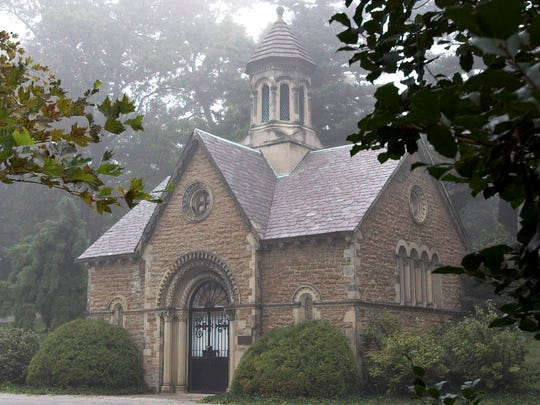"White Pine Chapel in Spring Grove Cemetery and Arboretum, where George ""Superman"" Reeves was kept on ice from June 1959 until February 1960."