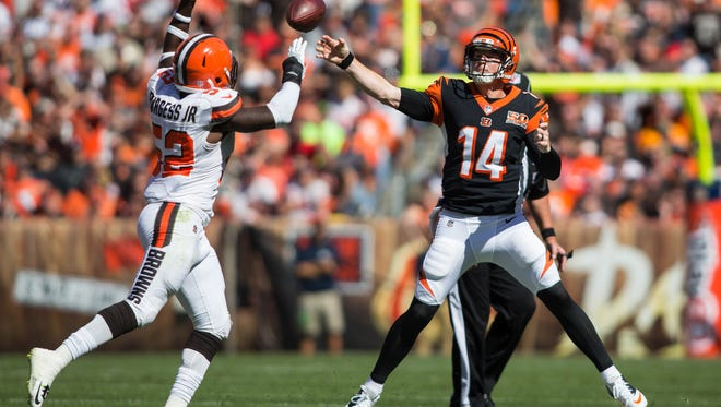 Andy Dalton has completed 46 of his last 57 passes for 498 yards for the Bengals.