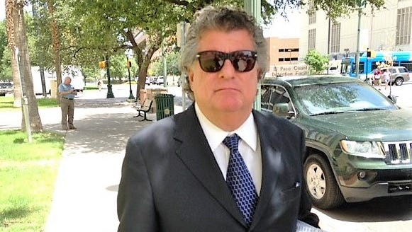 """William """"Billy"""" Abraham leaves federal bankruptcy court in Downtown El Paso on July 24, 2018, after a hearing in his two controversial bankruptcy cases."""