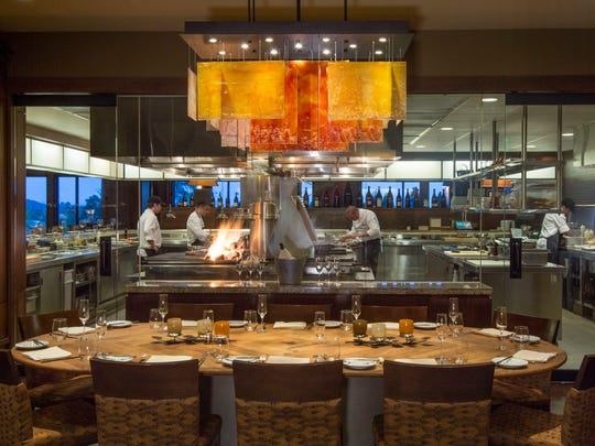 The Chef's Table is a priving dining space at Jory Restaurant at The Allison Inn and Spa.