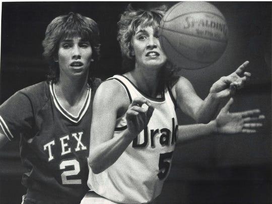 Lorri Bauman, right, was one of many former Iowa high