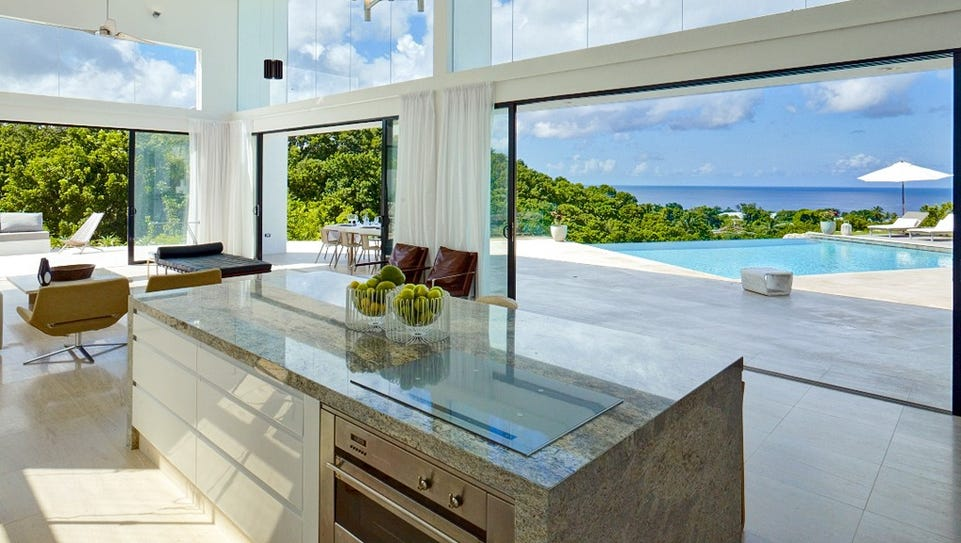 This four-bedroom in Mullins Bay, Barbados, sleeps