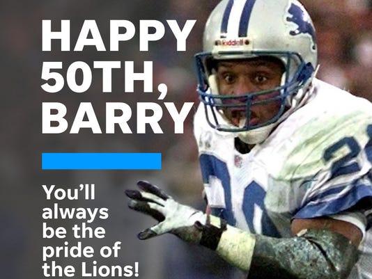 Barry Sanders birthday illustration