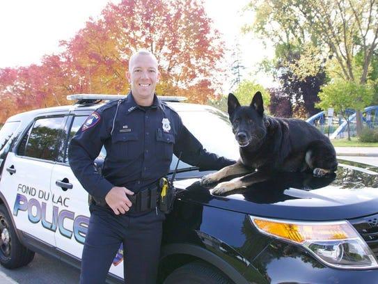 Fond du Lac Police officer Ben Hardgrove said goodbye
