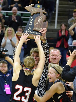 Marshall girls basketball has been in the state semifinals in each of the last two years, winning the state finals at the Breslin Center two seasons ago.