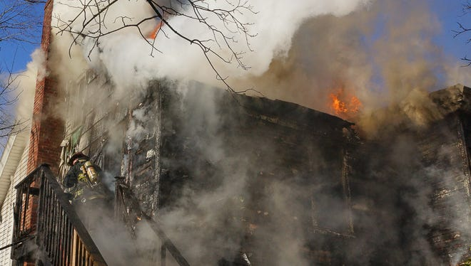 A fire on Thursday destroyed a Yeshiva of Rockland dormitory building at 2 East Funston Drive.