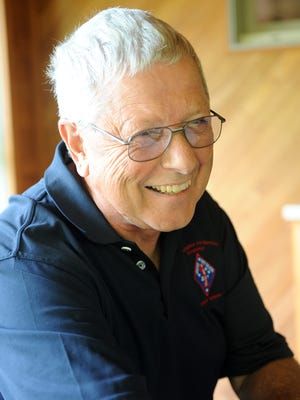 Don Maiyer talks about his time as a medic in the Navy Thursday afternoon. Lisa Bernheim