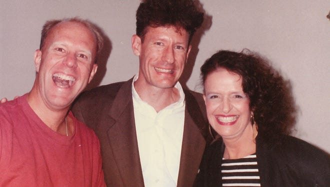 When Martha Kiel met Lyle Lovett backstage at the Caravan of Dreams in Fort Worth, she probably was wishing Reporter-News entertainment editor Greg Jaklewicz, left, hadn't tagged along.