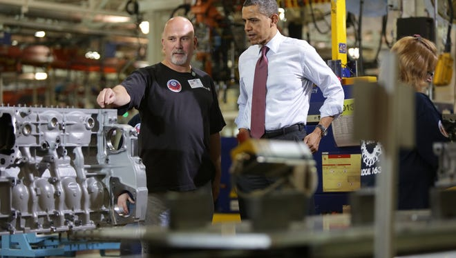President Barack Obama visited Detroit Diesel's   Redford Township facility on Dec. 10, 2012. The Michigan Strategic Fund approved a $1.3-million grant to Detroit Diesel this morning for the company to create a new engine line at its Redford Township plant and create 245 jobs