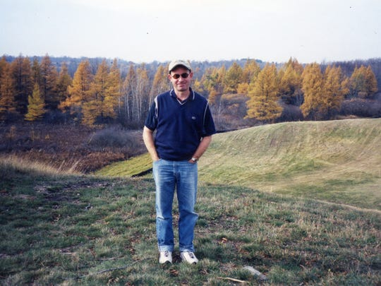 Steve Trattner stands on the land that he and Bob Lang would transform into Erin Hills.