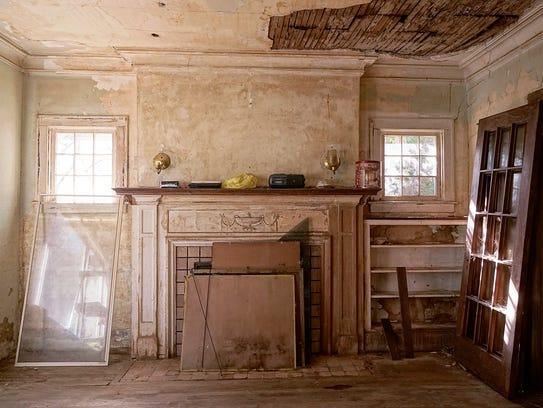 The interior suffers from neglect, including water
