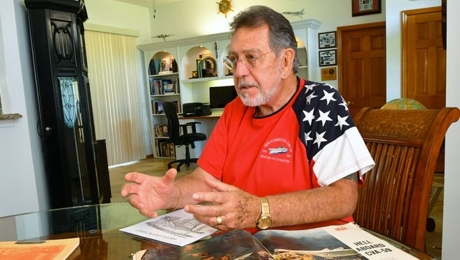 Bill Solt, 72, a Titusville resident, was on the USS Forrestal 50 years ago when an accidental rocket firing and related fires and explosions claimed the lives of 134 sailors.