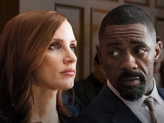 "Jessica Chastain and Idris Elba star in ""Molly's Game,"""