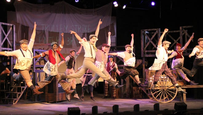 "Choreographer Jamey Grisham and musical director Matt Shabala embrace the rebellious joy of the ""Newsies"" score, now at Barn Theatre."