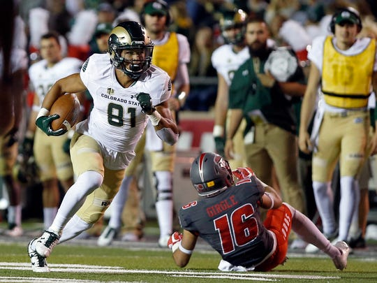 Bisi Johnson, who holds CSU's single-game record for receiving yards with 265, is one of three players off the Rams' 2018 team who will have the opportunity to showcase their skills in all-star practices and games this weekend and next. Johnson will participate in the NFLPA Collegiate Bowl on Jan. 19 in Pasadena, California, while kicker Wyatt Bryan and tackle Ben Knox are preparing for the Tropical Bowl on Sunday in Daytona Beach, Florida.