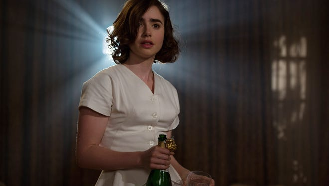 Lily Collins stars as starry-eyed actress Marla Mabrey in 'Rules Don't Apply.'