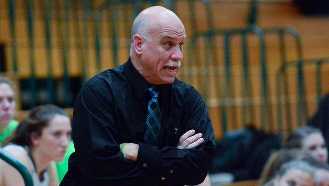 Coach Kevin Bankos led his York Catholic girls' team to York-Adams Division III and District 3 Class 3-A titles this season.