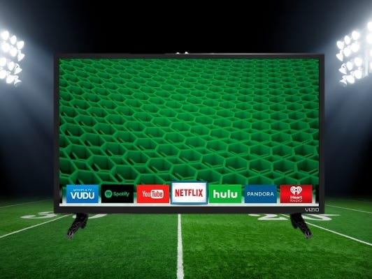 Impress your friends on February 5th with your brand new smart TV. Enter to win 1/3-1/31.