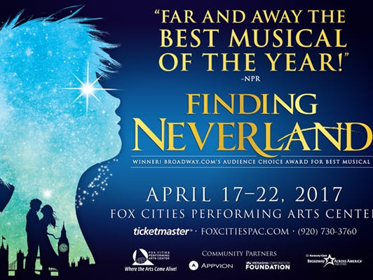Enter for a chance to win 2 tickets to see Finding Neverland at the PAC.  Enter 3/22 - 4/16