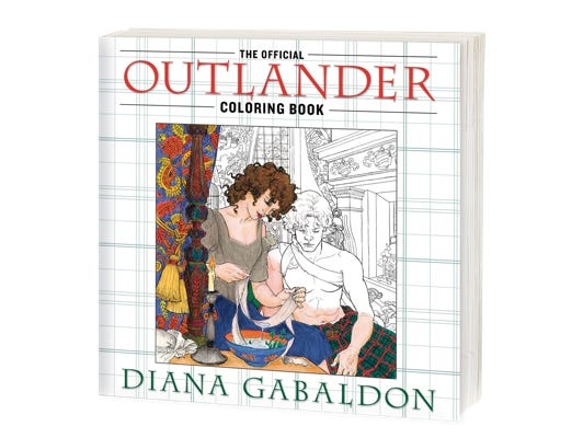 Download this free adult coloring page from the official 'Outlander' adult coloring book.