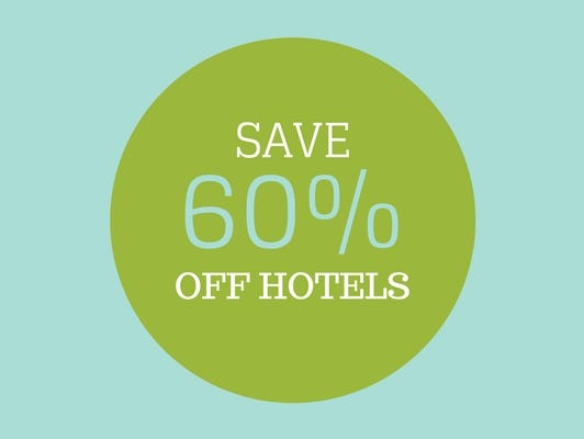 Save up to 60% off on hotels in your region and all over the country!