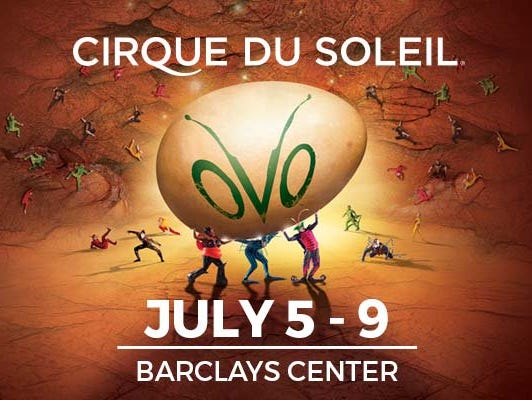 Insiders can enter to win tickets to see OVO by Cirque du Soleil at the Barclays Center June 13-July 5.