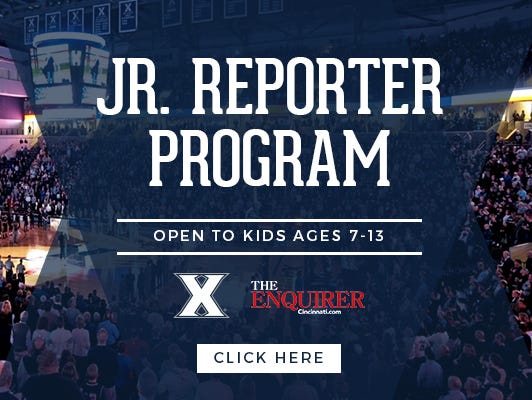 Enter your young  fan to be a Jr. Reporter at  the Xavier vs. Creighton game on 1/18. Entries end 12/17.