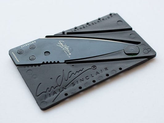 Two credit card folding knives - see how you can receive 15% off!
