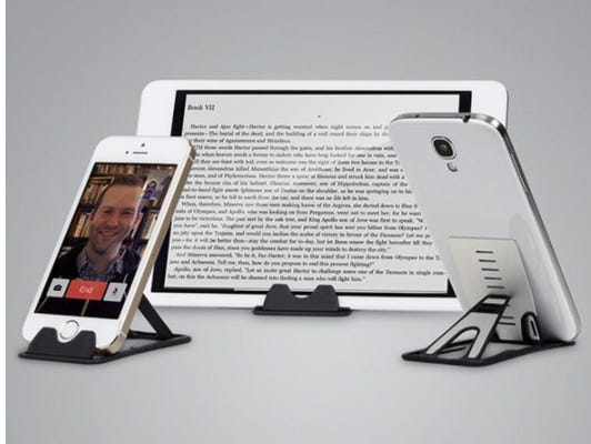 Three stands for a better view of your phone & tablet.