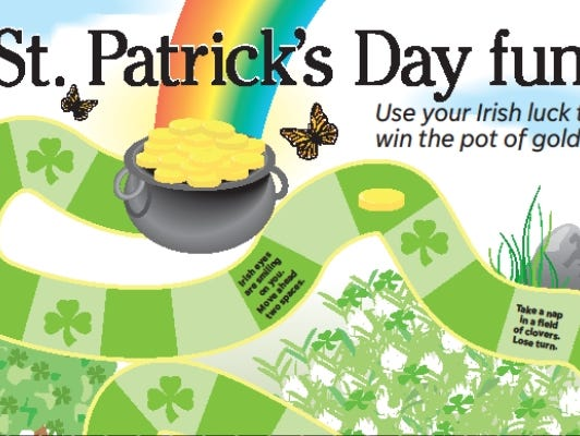 Gather your little leprechauns and see who wins the pot of gold!