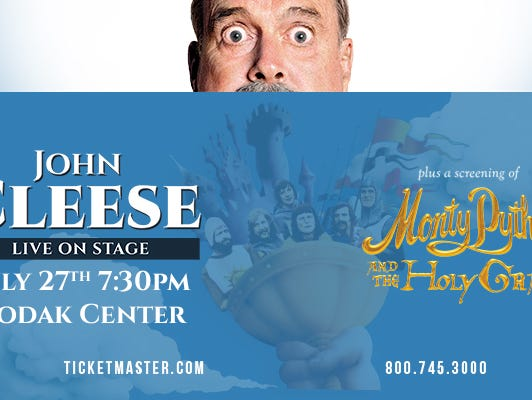 Save $5 on tickets to see John Cleese following a screening of Monty Python and the Holy Grail on July 27.