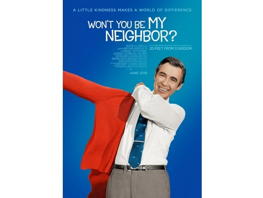 "Join the Asheville Movie Guys for a movie screening of ""Won't You Be My Neighbor? "" at the Fine Arts Theatre, June 25 at 7:00 pm."