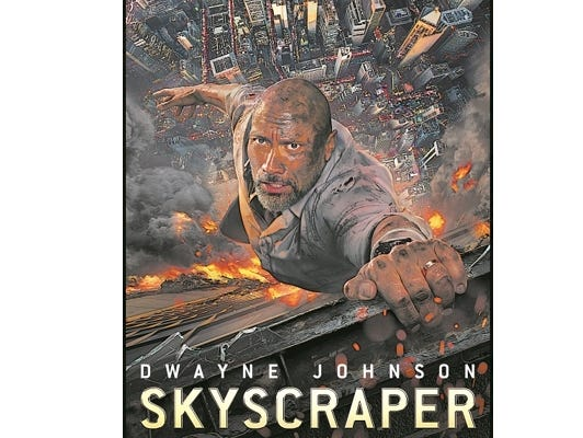 Win two passes to see Skyscraper on July 10th.