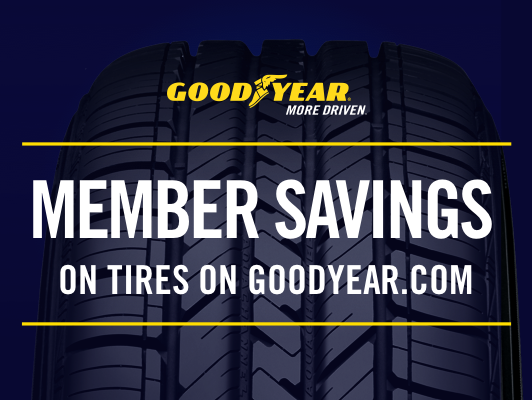 This winter, enjoy special savings on tires on Goodyear.com. Offer available until 12/31/18.