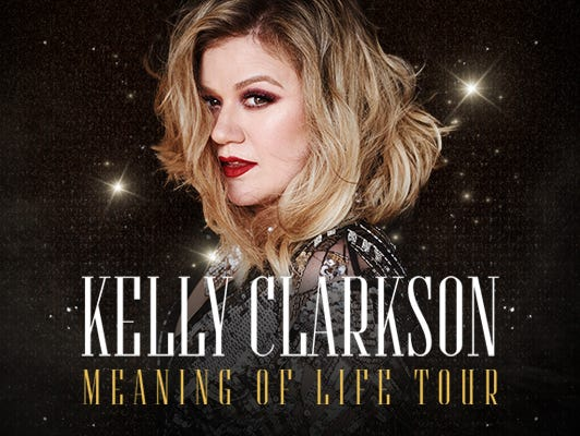 Subscribers can purchase presale tickets for the Kelly Clarkson Meaning of Life Tour, from 9/18 - 9/23.