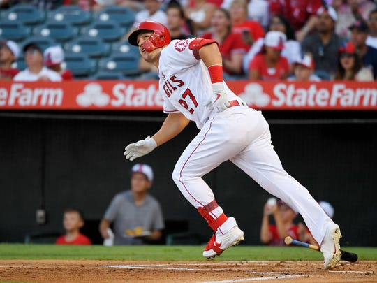Angels star Mike Trout was reportedly on a hunting trip in Iowa when he was named the American League's MVP.