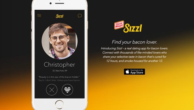 The new Sizzl dating app from Oscar Mayer brings bacon lovers together.