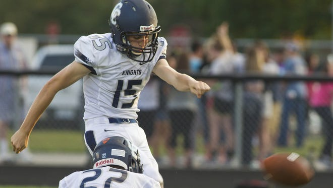 Central Catholic's Sam Milazzo is Indiana's career scoring leader for kickers.