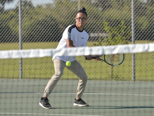 Palm Bay at Heritage boys tennis Thursday.