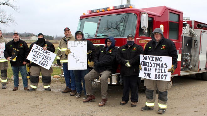 Firefighters at Hillsdale Township Fire Department raised funds to save Christmas for selected families.