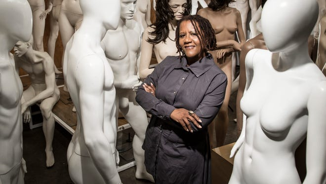 Judi Henderson-Townsend recycles and rents out mannequins from her warehouse in Oakland, Calif.
